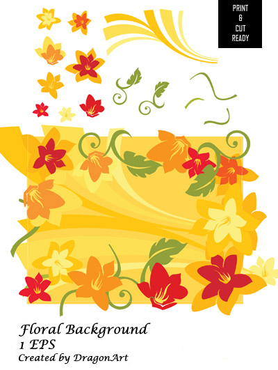 flowers background designs. Floral Background Vector amp;