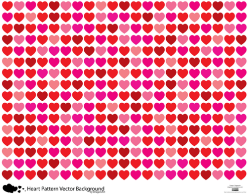 Valentine Background Clipart Happy Valentines Clip _vector-heart-patter