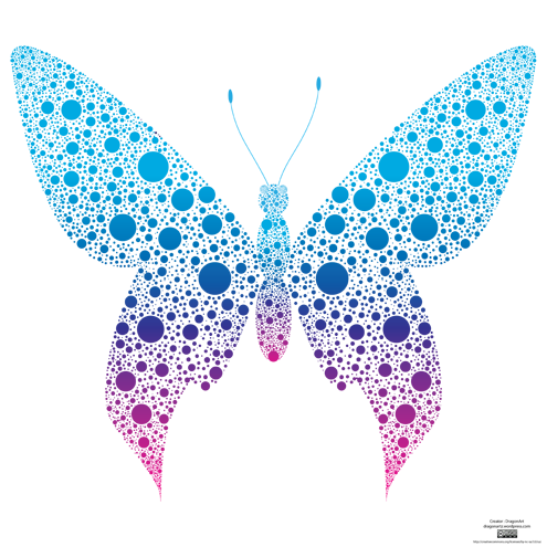 Dotted Butterfly Vector Dragonartz Designs We Moved To