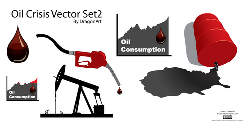 Oil Crisis Vector Set