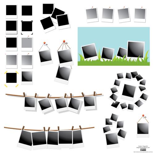 Polaroid Frames Vector Set