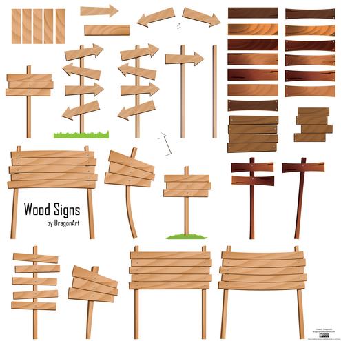 wood signs vector set dragonartz designs we moved to