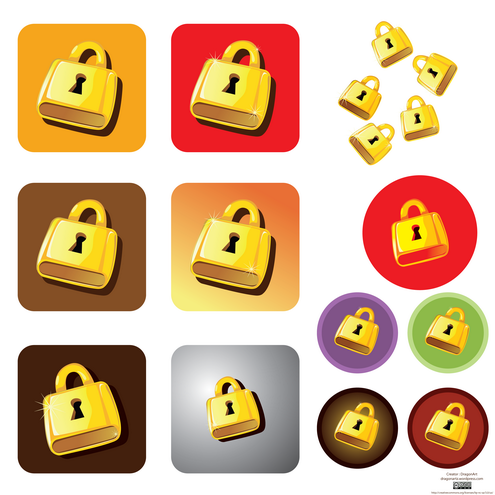_vector-golden-lock-preview-by-dragonart