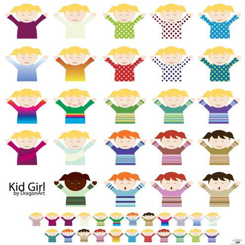 fat boy clipart. Kid Girl Vector
