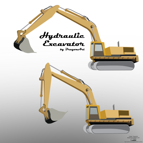 _vector-hydraulic-excavator-preview-by-dragonart
