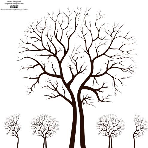 Leafless Autumn Tree Design Vector | DragonArtz Designs ...