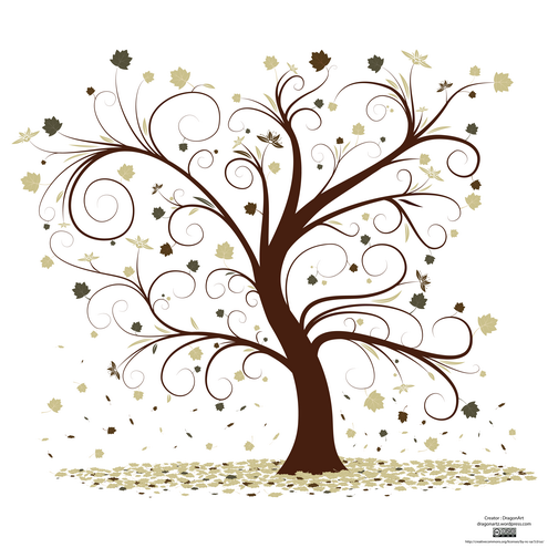 _vector curly tree design preview1 by dragonart