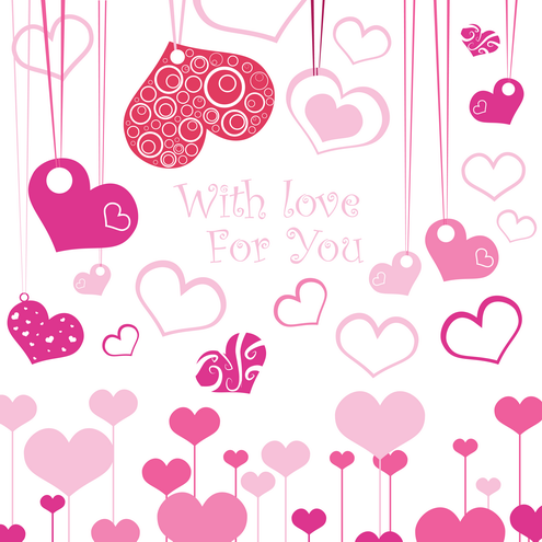 Valentine e-cards in different designs, 10 png e-cards and 7 vector e ...