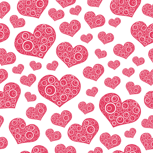 Heart Love Pictures on Seamless Hearts Pattern Background Vector   Dragonartz Designs  We