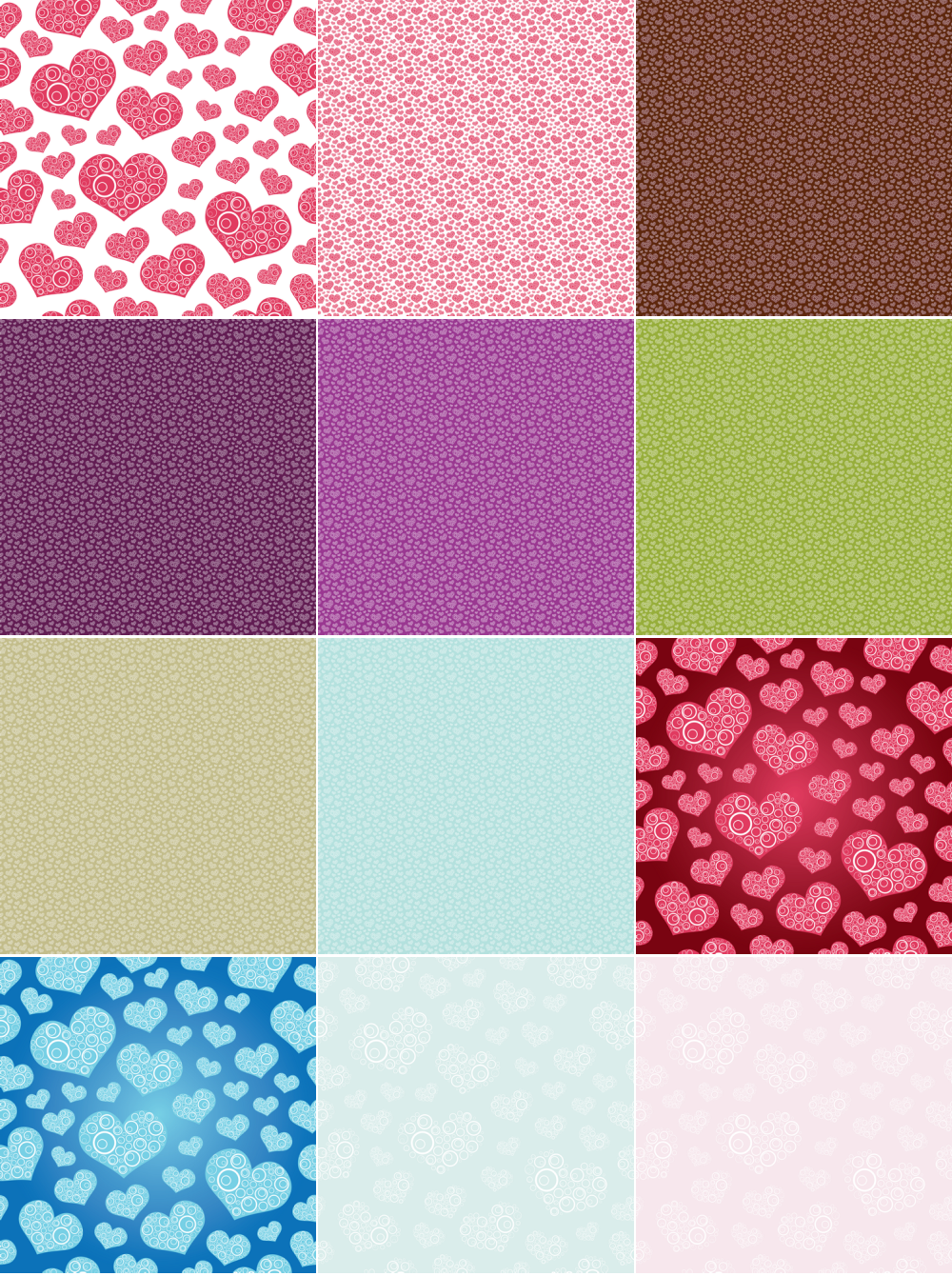 Seamless Hearts Pattern Background Vector