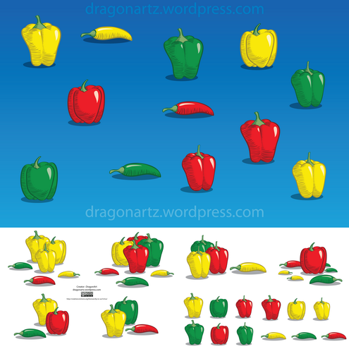 _vector-peppers-preview-by-dragonart