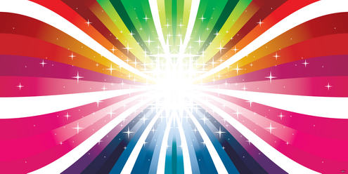 Colorful Rays Vector | DragonArtz Designs (we moved to ...