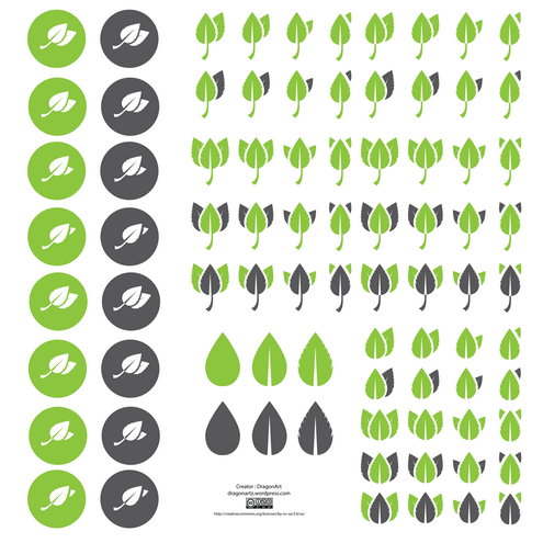 _vector-ecology-leaves-icons-preview-by-dragonart