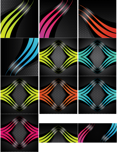 vector-stripes-on-honycomb-background-cs-by-dragonart