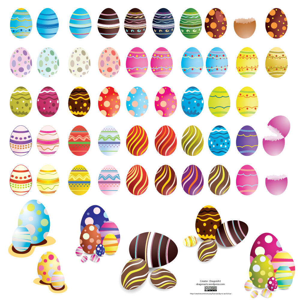 Vector Easter Eggs Set2 Cs By Dragonart
