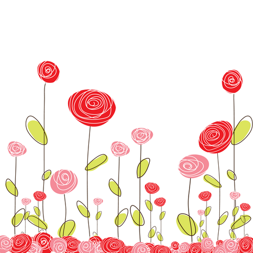 Scribble Flower Cards Vector | DragonArtz Designs (we ...