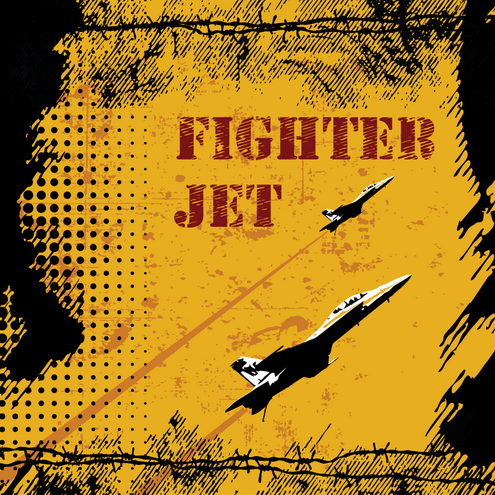 _Vector - Fighter Jet Grunge Prev by DragonArt