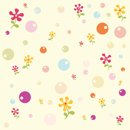 powerpoint backgrounds flowers. _Vector - Kids Background