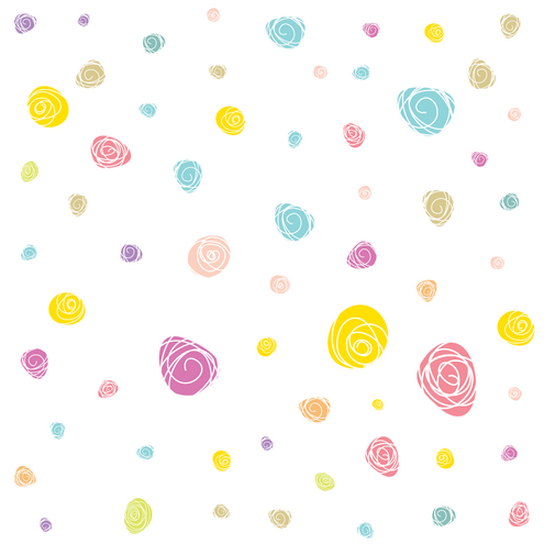 _Vector - Scribble Flower Pattern Preview by DragonArt