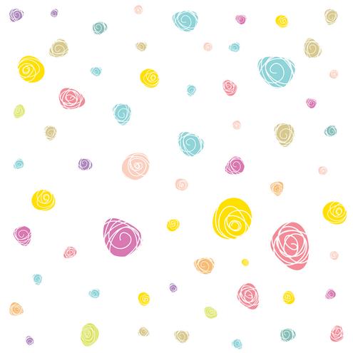 _Vector - Scribble Flower Pattern Preview by DragonArt