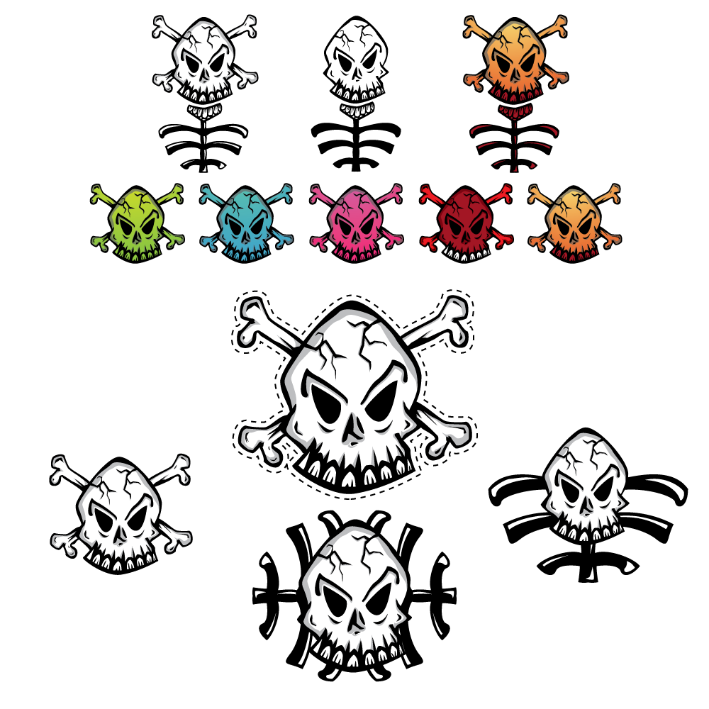 Another skull design useful as