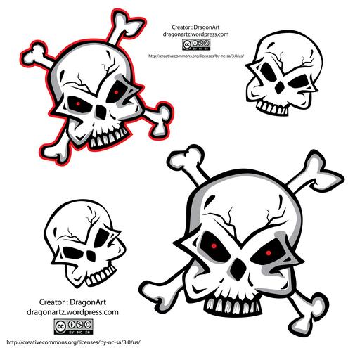 _Vector - Skull Preview by DragonArt