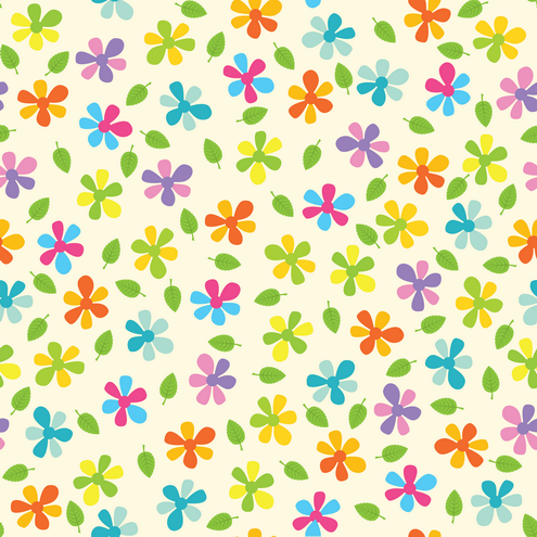 _Vector - Summer Flower Seamless Pattern Preview by DragonArt