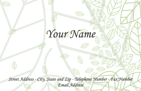 Vector - Business Cards Leaf pv by DragonArt
