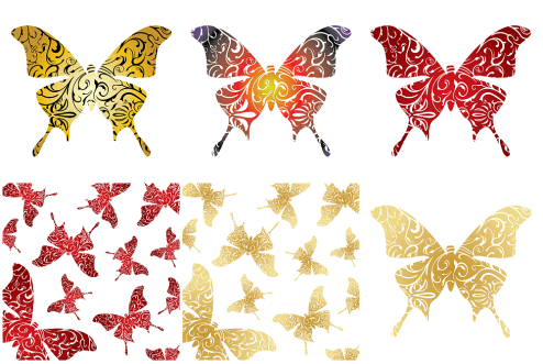 _Vector - Decorative Butterfly CS by DragonArt