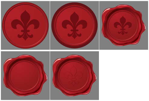 _Vector - Fleur De Lys Wax Seal CS by DragonArt