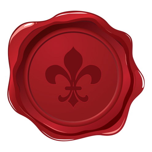 _Vector - Fleur De Lys Wax Seal Prev by DragonArt