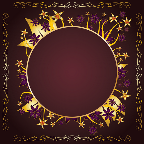 Vector - Gold Frame Design 04 by DragonArt