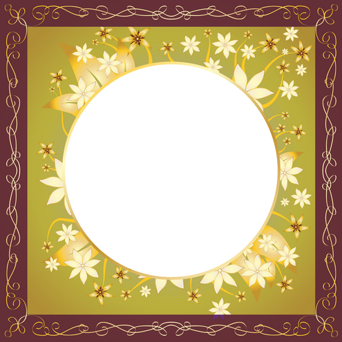 Vector - Gold Frame Design 13 by DragonArt