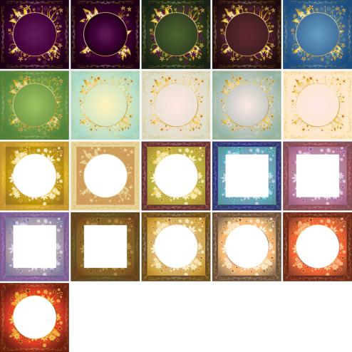 _Vector - Gold Frame Design CS by DragonArt