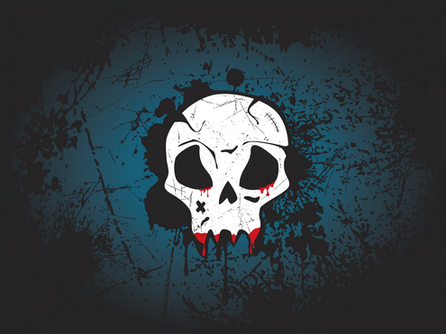 _Vector - Skull Wallpaper Prev by DragonArt