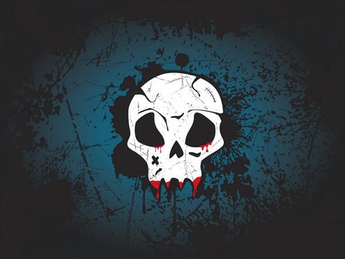 _Vector - Skull Wallpaper Prev by DragonArt