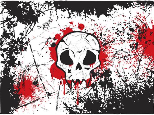 _Vector - Skull Wallpaper Prev2 by DragonArt