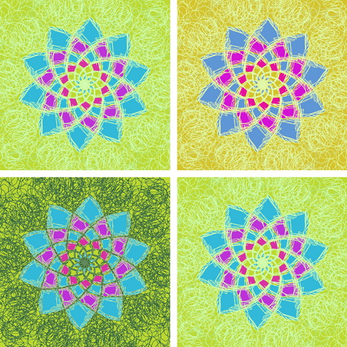 _Graphics - Colorful Flower Pattern prev2 by DragonArt