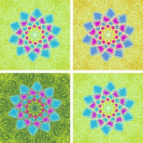 _Graphics - Colorful Flower Pattern prev2 by DragonArt