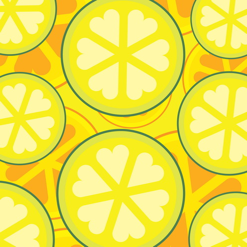 Vector - Abstract Fruit Slices 05 by DragonArt