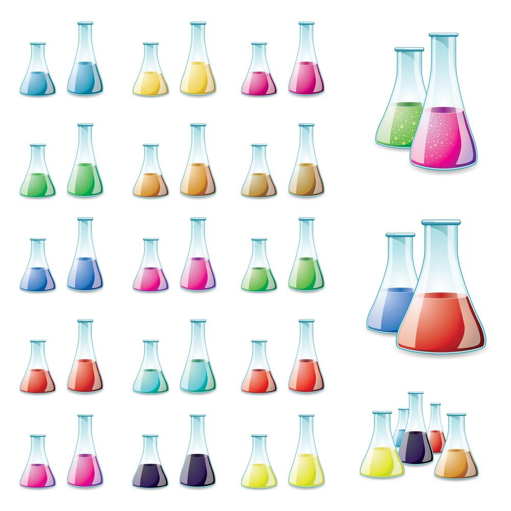 Laboratuar Şişeleri Vektörleri