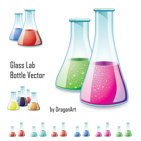 science lab clipart. _Vector - Glass Lab Bottle