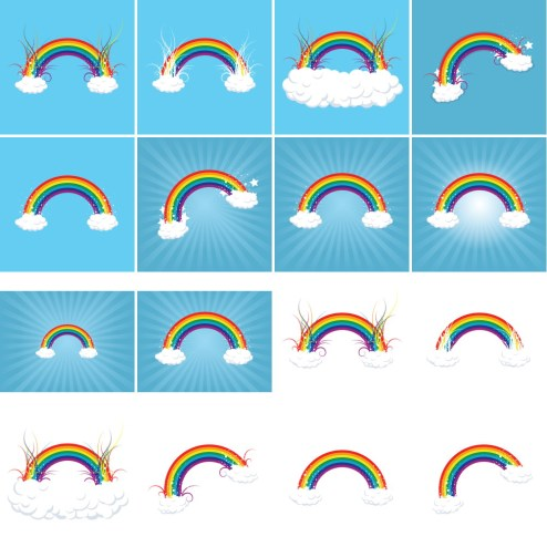 _Vector - Rainbow in the Clouds CS by DragonArt