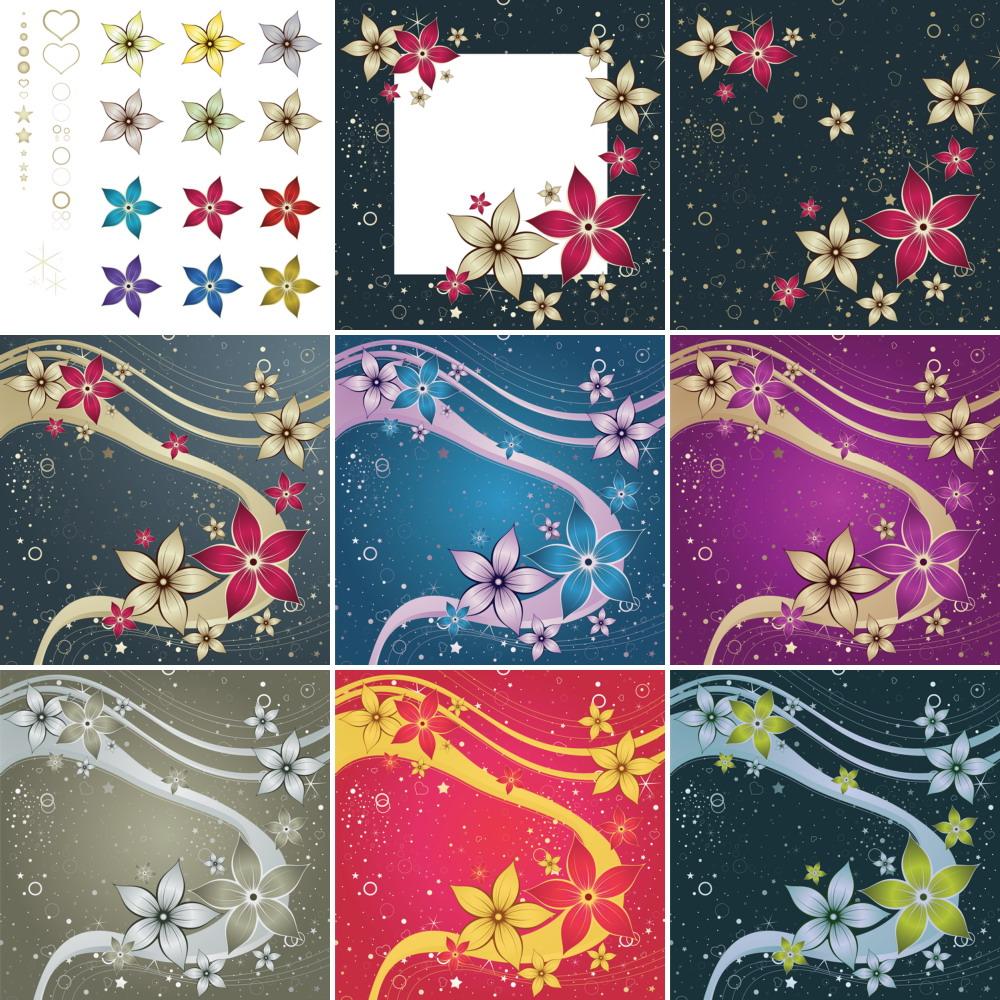 Red Silk Flower Design CS