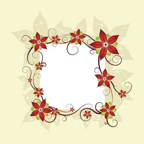 Vector - Silk Flower Design Card 02 by DragonArt