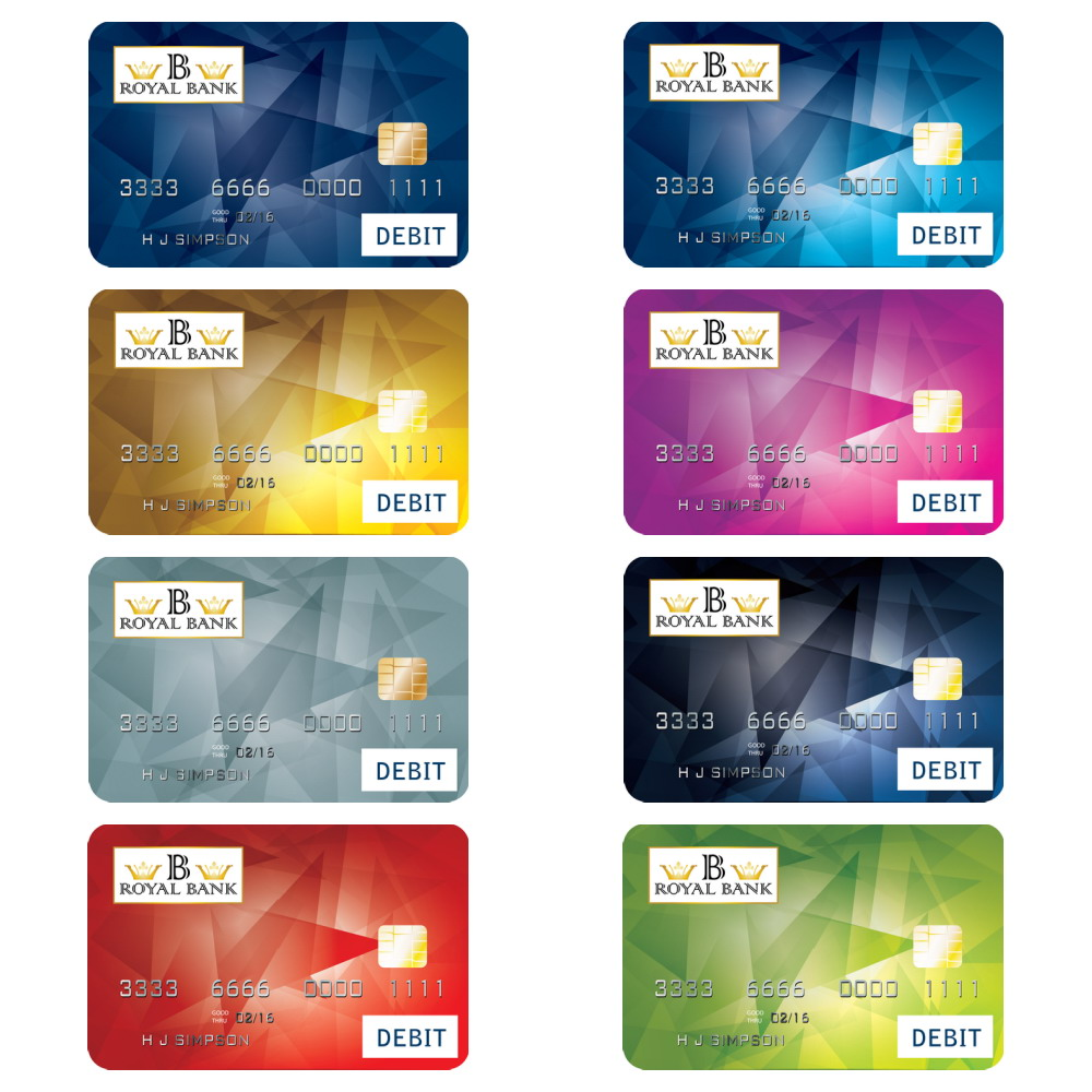 Bank Of America Debit Card Designs.Bank Card Design Vector ...