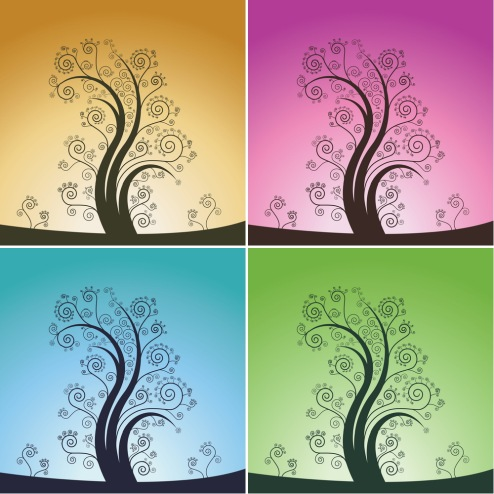 _Vector - Curl Tree Design CS by DragonArt
