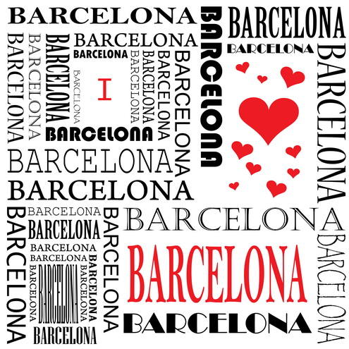 Vector - I Love Barcelona 01 by DragonArt