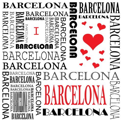 Vector - I Love Barcelona 01 by DragonArt