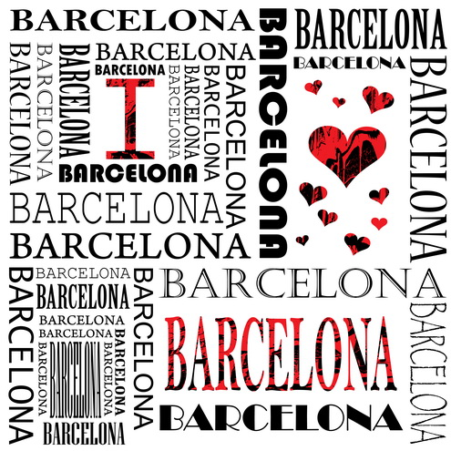 Vector - I Love Barcelona 02 by DragonArt